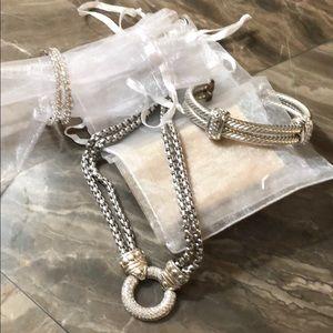 Jewelry - Cubic zirconia necklace earrings bracelet set